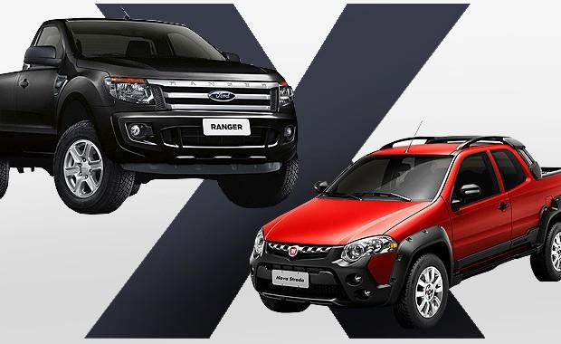 Qual comprar: Ford Ranger ou Fiat Strada? (Foto: Autoesporte)
