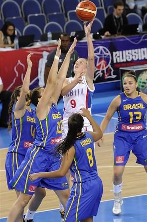 Brasil x Sérvia mundial feminino sub-19 basquete  (Foto: Divulgação / Fiba)