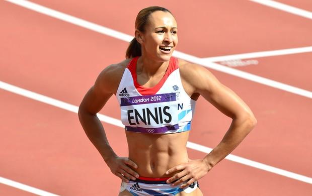 barriguinha Jessica Ennis atletismo (Foto: AFP)