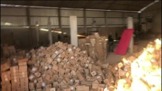 Polícia encontra galpão com cargas roubadas em Brasília