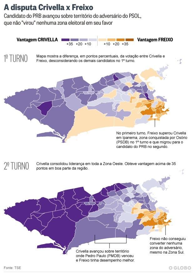 Mapa votação 2 T Rio