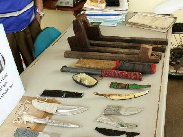 Vistoria encontrou armas e celulares em unidade prisional (Foto: Divulgação/Polícia Civil)