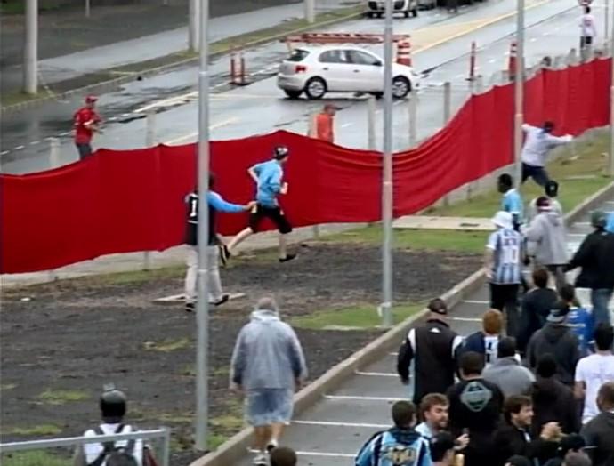 gre-nal 406 grêmio inter internacional final gauchão beira-rio confusão briga (Foto: Reprodução/EPTC)
