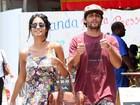 Jesus Luz passeia com a namorada grávida no Rio
