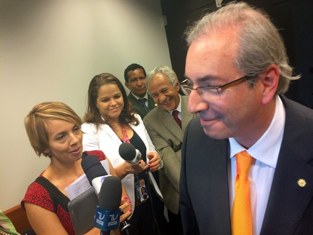 O líder do PMDB na Câmara, Eduardo Cunha (RJ), afirmou que bancada respeitará decisão da convenção nacional do partido (Foto: Henrique Arcoverde / G1)