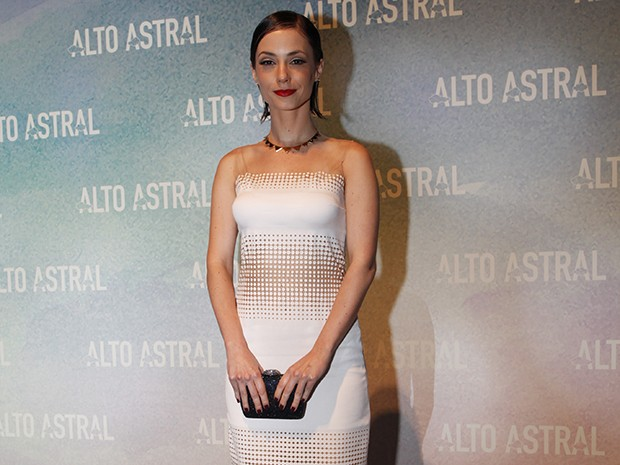 Rosane Muholland marca presença na festa de lançamento de Alto Astral (Foto: Arthur Seixas/Gshow)