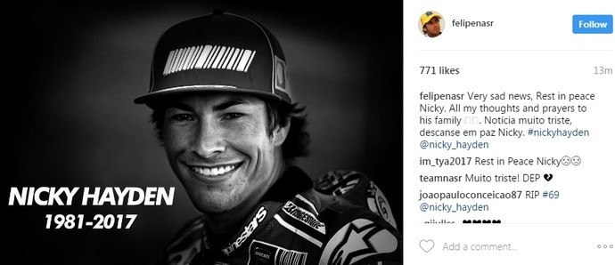 Felipe Nasr Nicky Hayden (Foto: Reprodução)
