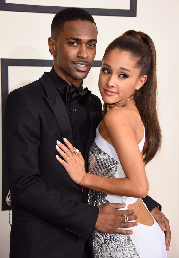 Big Sean e Ariana Grande no Grammy 2015 (Foto: Getty Images)