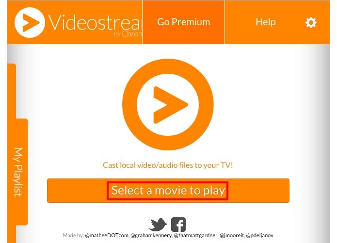 Clique no único botão do Videostream (Foto: Reprodução/Paulo Alves)