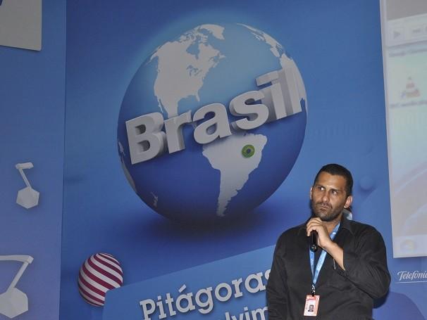 Edward Silva em palestra na Campus Party (Foto: Divulgação/Lucas Conrado)