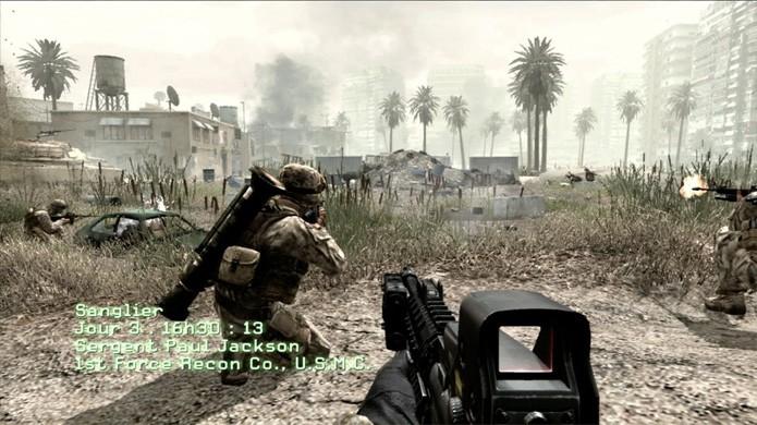 Call of Duty 4: Modern Warfare trouxe um estilo de guerra mais próximo da geração atual (Foto: Reprodução/YouTube)