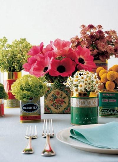 Ideias com as latas não faltam (Foto: www.marthastewartweddings.com)