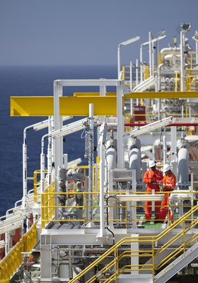 OGX Plataforma de Petróleo EBX (Foto: Divulgação)
