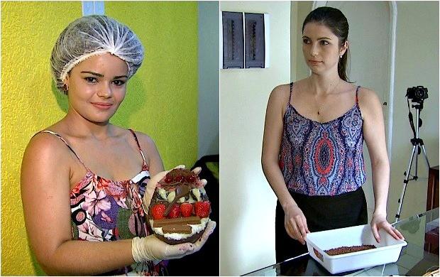 Aldilene de Matos e Ana Carolina utilizam as redes sociais para expandir os negócios (Foto: Bom Dia Amazônia)