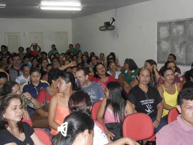 Professores definiram paralisação após reunião na sede do sindicato (Foto: Sindicato dos Servidores Municipais de Miguel Alves)
