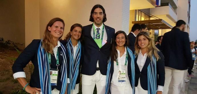 Scola e argentinas cerimônia de abertura da Olimpíada no Maracanã (Foto: Twitter)