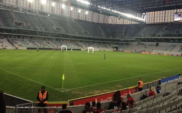 Arena da Baixada Atlético-PR Goiás (Foto: Monique Silva)
