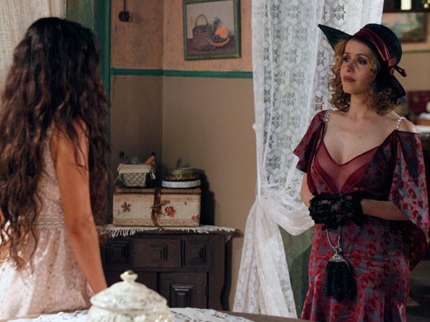 Reação de Gabriela deixa Zarolha desconcertada (Foto: Gabriela / TV Globo)