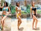 Candidatas a Miss Brasil se divertem em parque aquático
