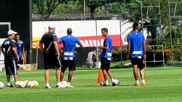 neymar santos treino (Foto: Marcelo Hazan)