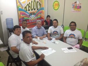 Reunião com presidentes de blocos definiu detalhes para folia (Foto: John Pacheco/G1)