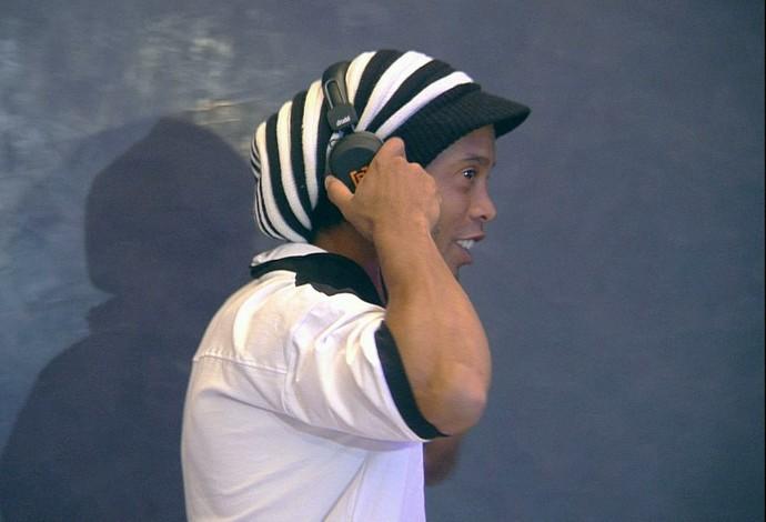 Ronaldinho Gaúcho dá primeira entrevista no Marrocos (Foto: Reprodução / TV Globo Minas)