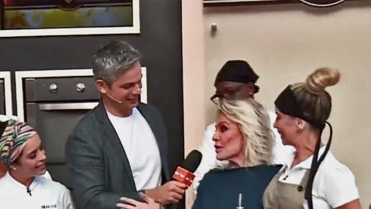 Otaviano Costa invade a cozinha do Super Chef e 'alfineta' Danielle Winits: 'Não cozinha nada'