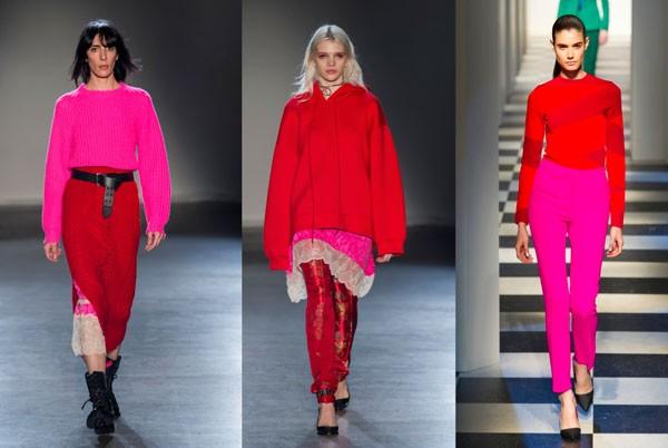 Vermelho e rosa, uma combinação atemporal e versátil! (Foto: Imaxtree)