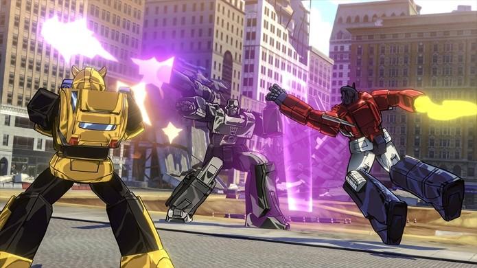 Transformers: Devastation traz gráficos extremamente fiéis ao desenho animado dos anos 80 (Foto: Reprodução/Gematsu)