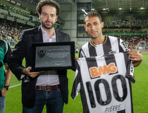 Pierre 100 jogos Atlético-MG x Bahia (Foto: Bruno Cantini / Flickr do Atlético-MG)