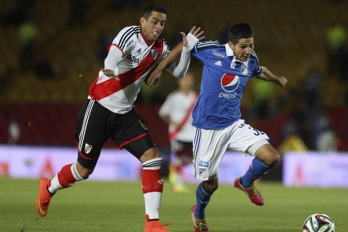 Millonarios 2 x 2 River Plate, amistoso homenagem a Di Stéfano (Foto: Reuters)