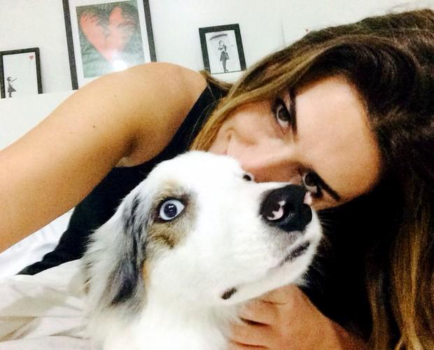 Fê Paes Leme cachorros (Foto: Arquivo Pessoal)