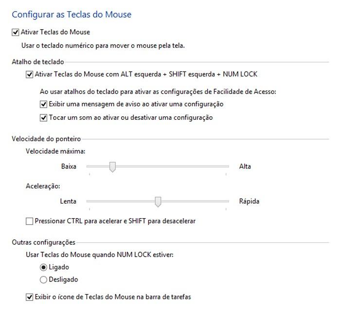 Recurso pode ser configurado para facilitar o uso (foto: Reprodução/Windows)
