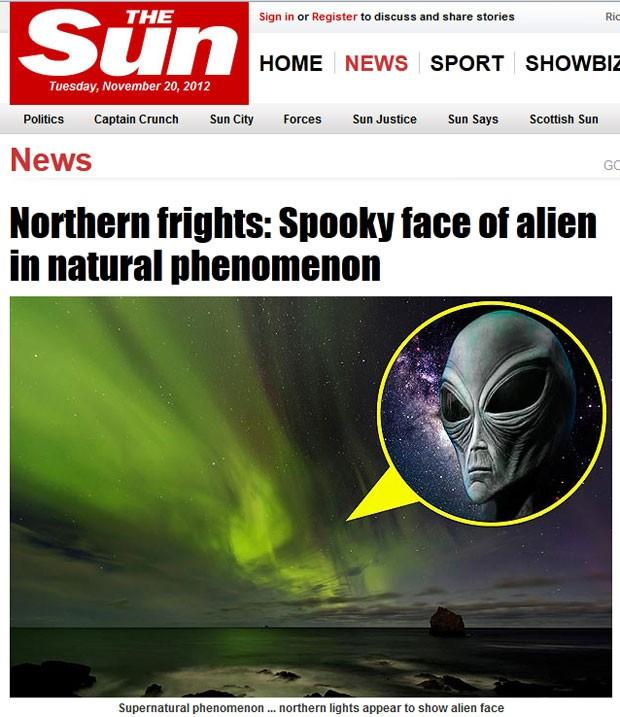 Foto chamou atenção por lembrar as feições de uma criatura extraterrestre. (Foto: Reprodução)