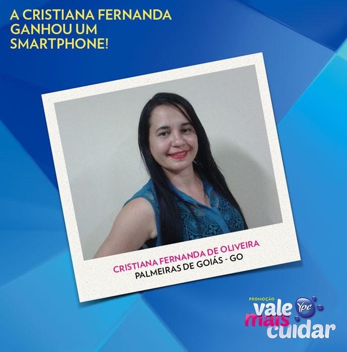 Cristina é mais uma ganhadora da Promoção Ypê Vale Mais Cuidar (Foto: Divulgação)
