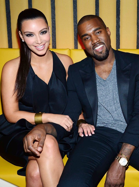 Kim Kardashian e Kanye West - bebê do casal será poupado de aparecer no reality show da família (Foto: Getty Images)