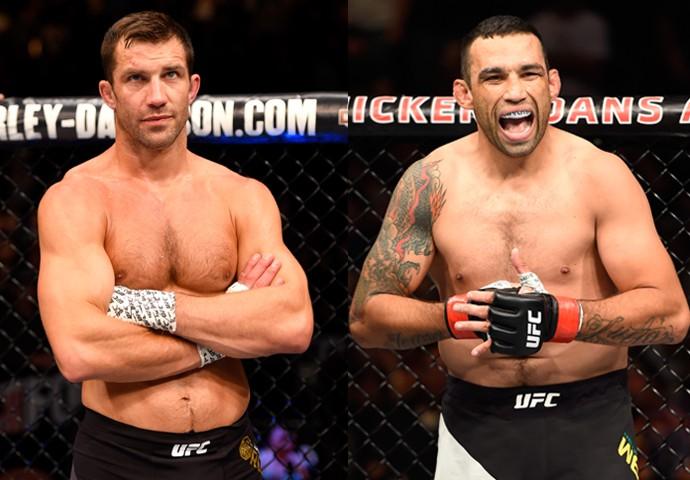 Luke Rockhold; Fabricio Werdum; UFC (Foto: Montagem Infoesporte (Getty Images))