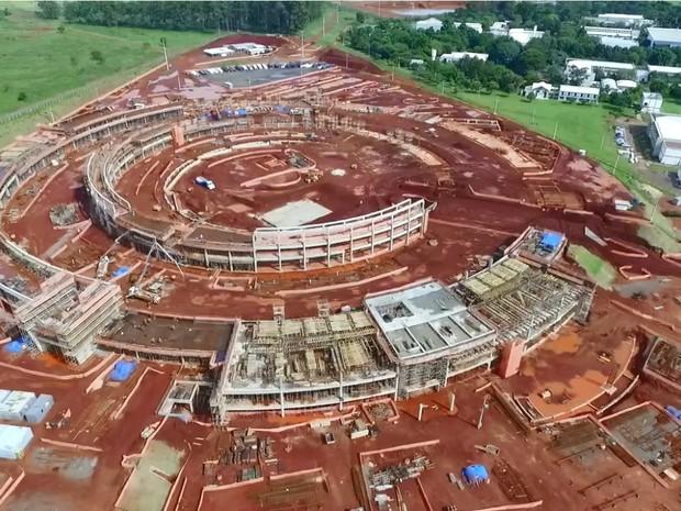 Projeto Sirius está em fase de construção (Foto: Divulgação/ LNLS)