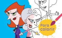 Para colorir: Trio de bruxas