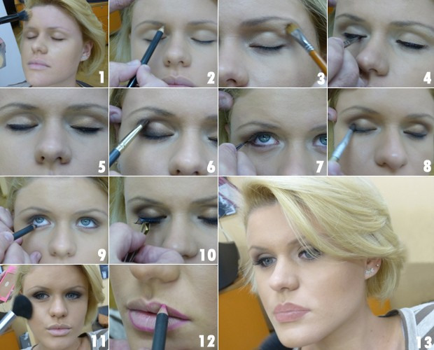 Confira o passo a passo de uma maquiagem da moda para noivas (Foto: Mais Você / TV Globo)