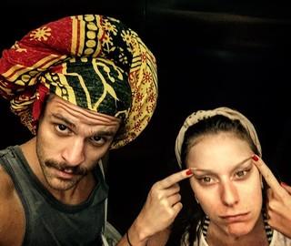 Caroline Abras e Alejandro Claveaux (Foto: Reprodução/Instagram)
