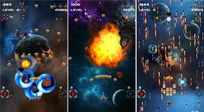 Space Shooter X é um game para Windows Phone que traz elementos de clássicos de fliperama e consoles antigos (Foto: Divulgação/Windows Phone Store)