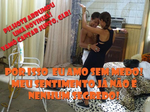 AÊ PILHOTE!!!! Arrumou uma novinha funkeira!!! (Foto: Malhação / Tv Globo)