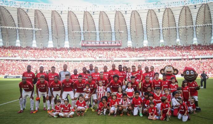 Jogadores Peñarol Inter Beira-Rio (Foto: JeffersonBernardes/Agência Preview/Divulgação)