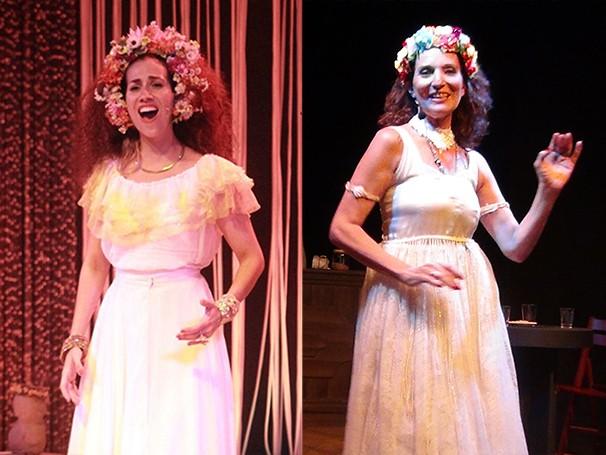 As atrizes Clara Santhana e  Sandra Serrado vivem a interprete e cantora Clara Nunes (Foto: Divulgação)