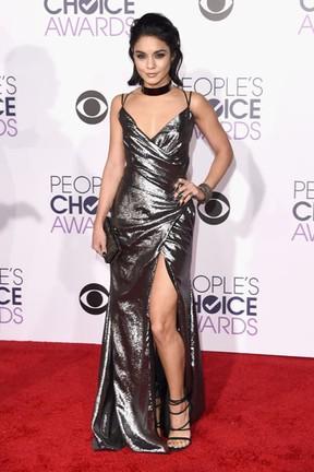 Vanessa Hudgens em premiação em Los Angeles, nos Estados Unidos (Foto: Jason Merritt/ Getty Images/ AFP)