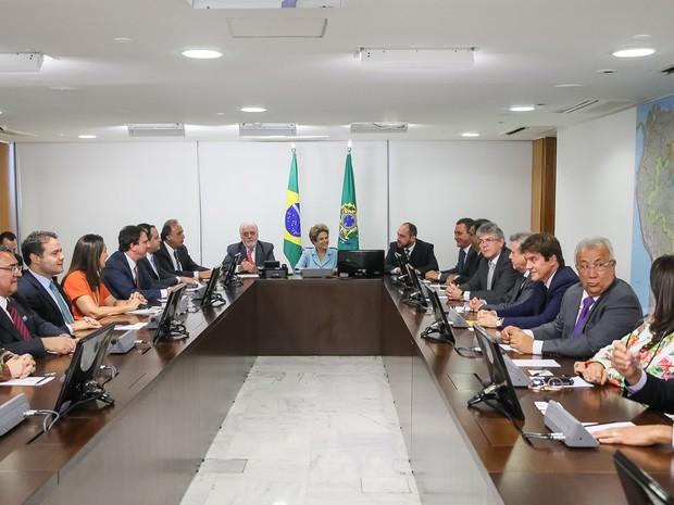 A presidente Dilma Rousseff durante reunião com governadores no Palácio do Planalto (Foto: Roberto Stuckert Filho/PR)