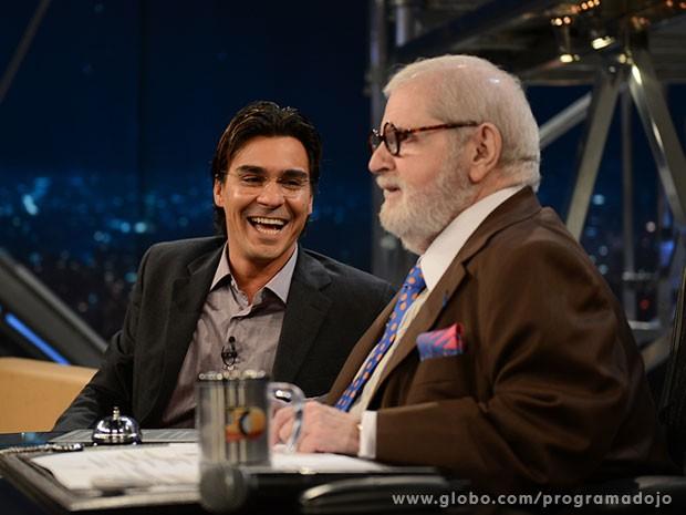 André Gonçalves participa do Programa do Jô desta quinta-feira (Foto: TV Globo/Programa do Jô)