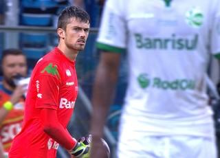 Elias, goleiro do Juventude é destaque em partida que tirou Grêmio da final do Gauchão (Foto: Reprodução/RBS TV)