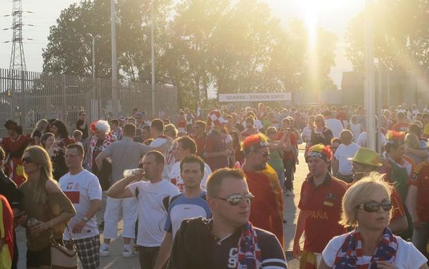 Torcida Croácia - Espanha-croácia (Foto: Victor Canedo / Globoesporte.com)